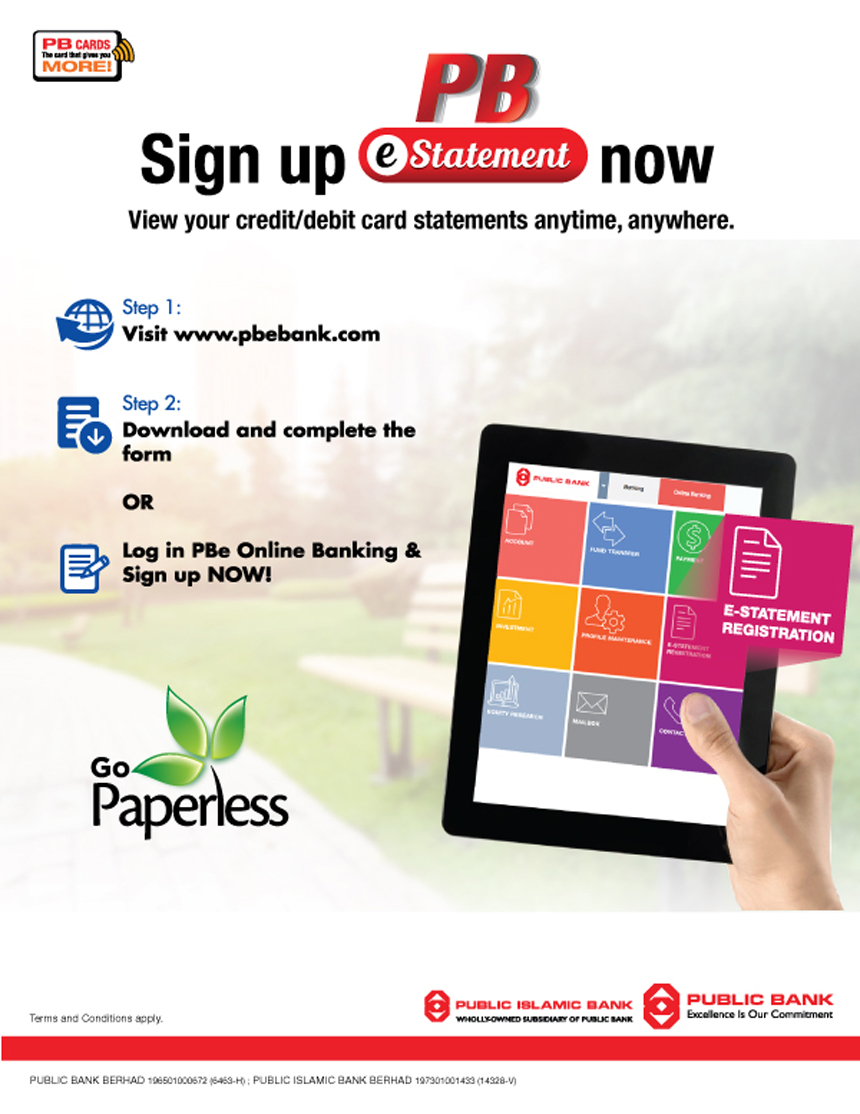 Public Bank Berhad - Sign Up For PB Credit Card E-Statement