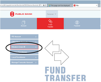 Public Bank Berhad - How To Send Money online with Western